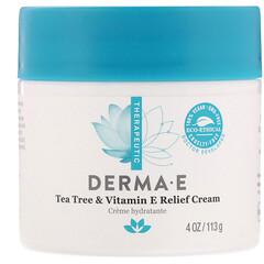 Derma E, 茶樹和維生素 E 舒緩霜,4 盎司(113 克)