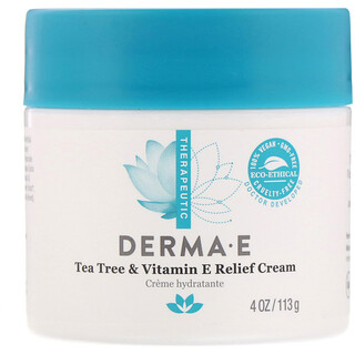 Derma E, Tea Tree & Vitamin E Relief Cream, 4 oz (113 g)