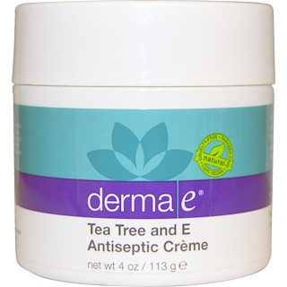 Derma E, Tea Tree and E Antiseptic Creme, 4 oz (113 g)