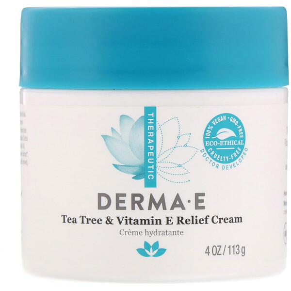 Tea Tree & Vitamin E Relief Cream, 4 oz (113 g)