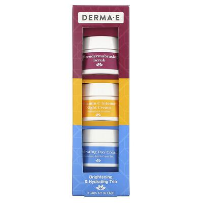 Купить Derma E Brightening & Hydrating Trio, 3 Piece Set, 1/2 oz Each