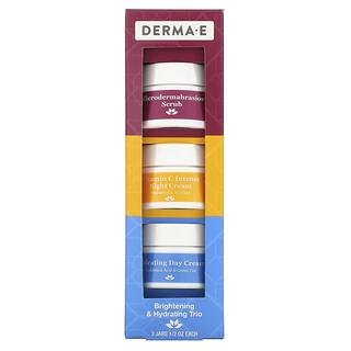 Derma E, Brightening & Hydrating Trio, 3 Piece Set, 1/2 oz Each