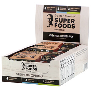 Dr. Murray's, Superfoods Protein Bars, Whey Protein Combo Pack, 12 Bars, 2.05 oz (58 g) Each отзывы покупателей