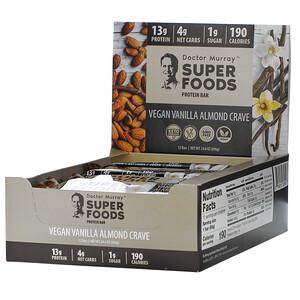 Dr. Murray's, Superfoods Protein Bars, Vegan Vanilla Almond Crave , 12 Bars, 2.05 oz (58 g) Each отзывы покупателей