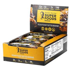 Dr. Murray's, Superfoods Protein Bars, Vegan Peanut Butter Brownie , 12 Bars, 2.05 oz (58 g) Each отзывы