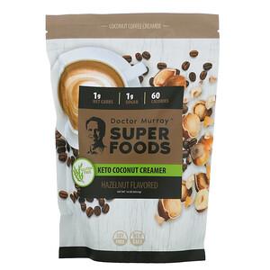 Dr. Murray's, Super Foods, Keto Coconut Creamer, Hazelnut, 16 oz (453.5 g)