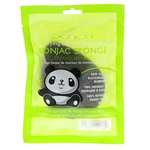 Denco, Konjac Sponge, Purifying Bamboo Charcoal, 1 Sponge отзывы