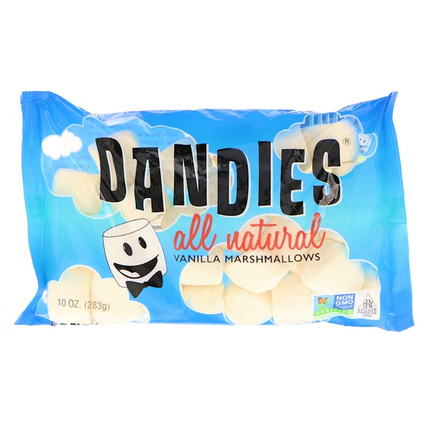 Dandies, All Natural Vanilla Marshmallows, 10 oz (283 g)