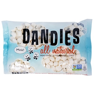 Dandies, All Natural Mini Vanilla Marshmallows, 10 oz (283 g)