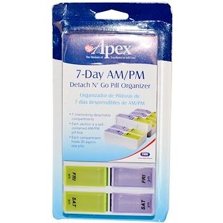 Apex, Недельный походный органайзер для таблеток Detach N' Go, 1 органайзер для таблеток