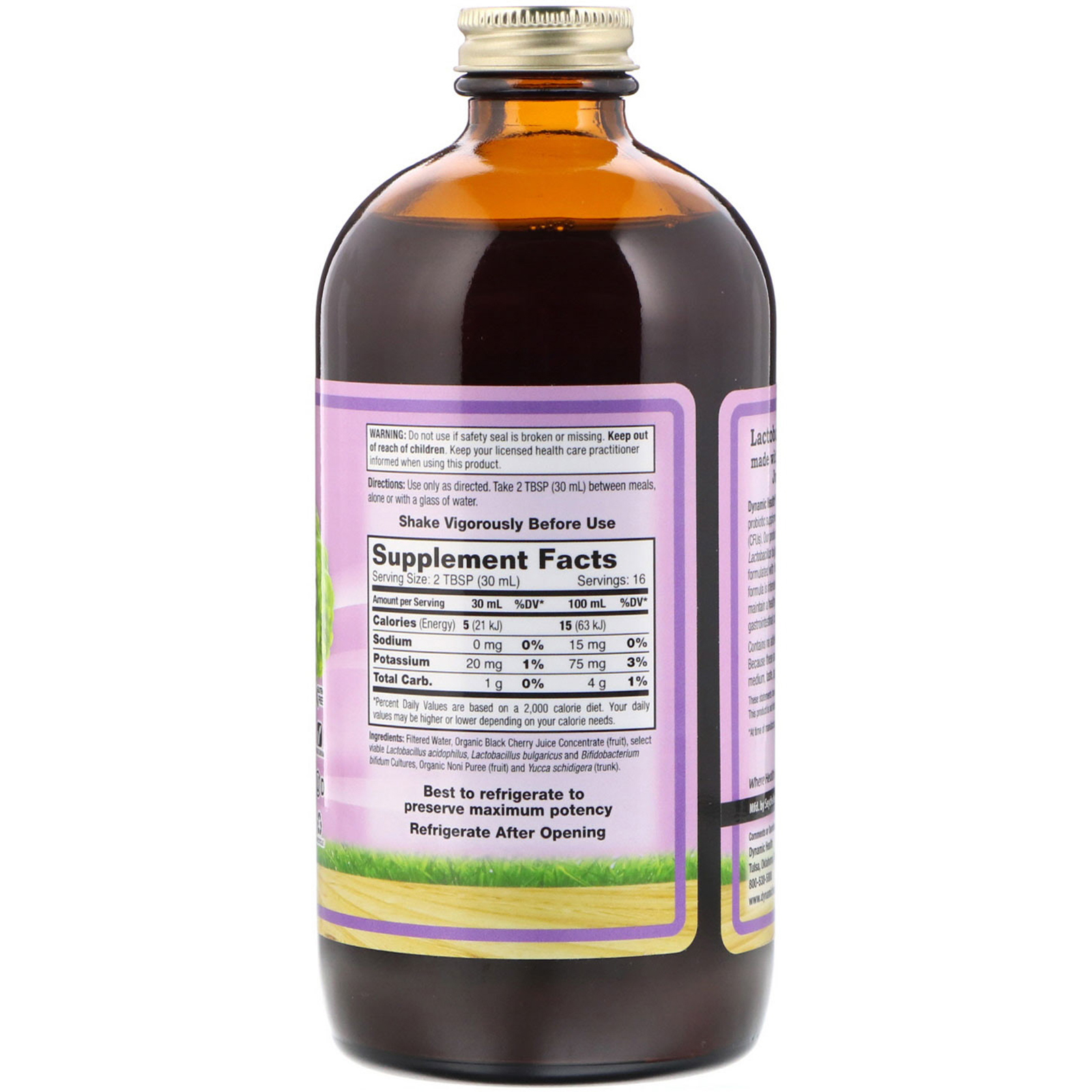 Dynamic Health Laboratories, Lactobacillus Acidophilus, Made with