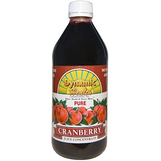 Dynamic Health  Laboratories, Pure Cranberry Juice Concentrate, 16 fl oz (473 ml)
