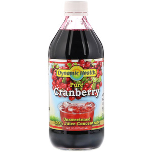 Динамик Хэлс Лабораторис, Pure Cranberry, 100% Juice Concentrate, Unsweetened, 16 fl oz (473 ml) отзывы покупателей