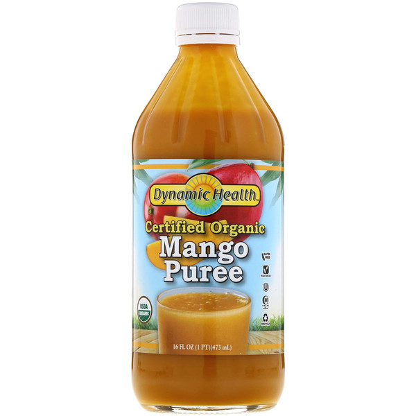 Dynamic Health  Laboratories, Certified Organic Mango Puree, 16 fl oz (473 ml) (Discontinued Item)