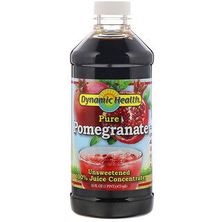 Dynamic Health  Laboratories, Pure Pomegranate, 全 Juice Concentrate, Unsweetened, 16 fl oz (473 ml)