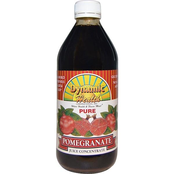 Dynamic Health  Laboratories, Pure Pomegranate Juice Concentrate, 16 fl oz (473 ml)