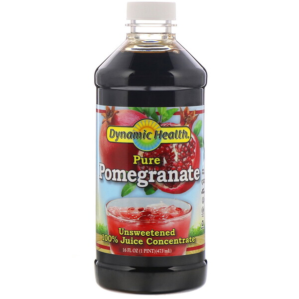 Dynamic Health  Laboratories, Jus de grenade, Pur jus 100 % concentré, Sans sucre ajouté, 473 ml
