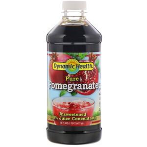 Динамик Хэлс Лабораторис, Pure Pomegranate, 100% Juice Concentrate, Unsweetened, 16 fl oz (473 ml) отзывы покупателей