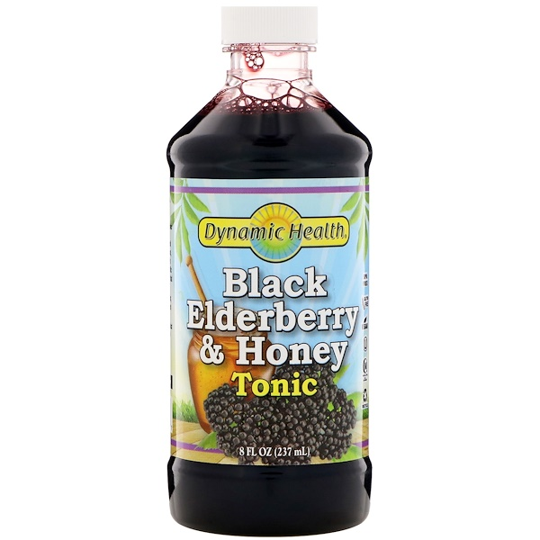 Dynamic Health  Laboratories, Dynamic Health Laboratories, Black Elderberry, Superfruit Tonic, 8 fl oz (237 ml)