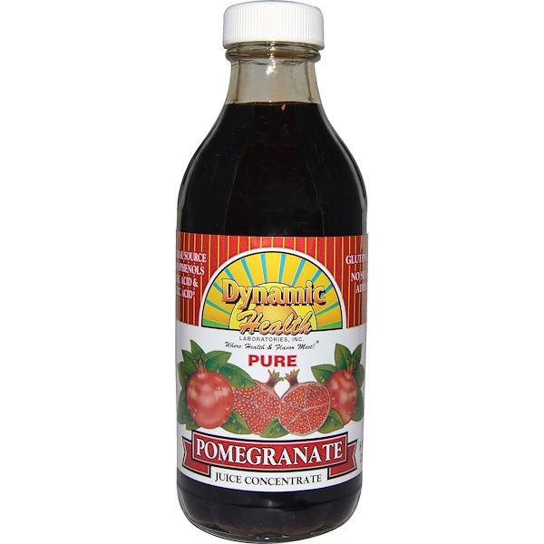 Dynamic Health  Laboratories, Pure Pomegranate, Juice Concentrate, 8 fl oz (237 ml) (Discontinued Item)
