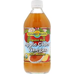 Динамик Хэлс Лабораторис, Organic Raw Apple Cider Vinegar with Mother, 16 fl oz (473 ml) отзывы покупателей