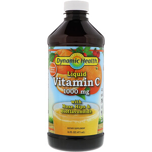 Динамик Хэлс Лабораторис, Liquid Vitamin C, Natural Citrus Flavors, 1,000 mg, 16 fl oz (473 ml) отзывы покупателей