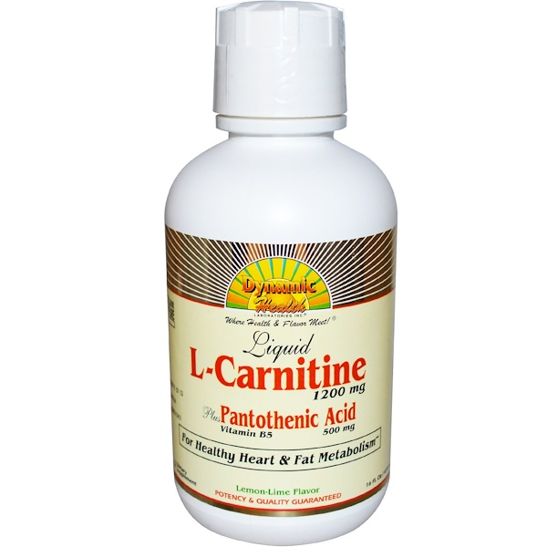 Dynamic Health  Laboratories, L-Carnitine, Lemon Lime Flavor, 1200 mg, 16 fl oz (473 ml) (Discontinued Item)
