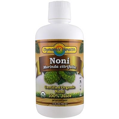 Купить Organic Certified Noni, 100% Juice, 32 fl oz (946 ml)