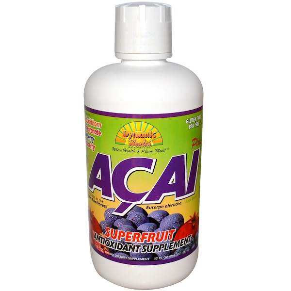 Dynamic Health  Laboratories, Acai Plus, Juice Blend, 32 fl oz (946 ml) (Discontinued Item)