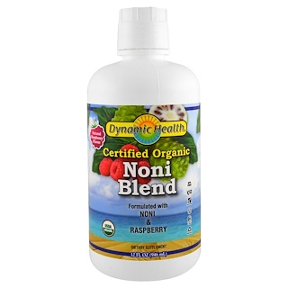 Dynamic Health  Laboratories, Organic Certified Noni Blend, Natural Raspberry Flavor, 32 fl oz (946 ml)