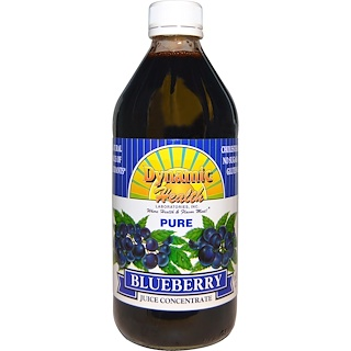 Dynamic Health  Laboratories, Pure Blueberry Juice Concentrate, 16 fl oz (473 ml)