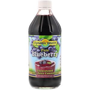 Динамик Хэлс Лабораторис, Pure Blueberry, 100% Juice Concentrate, Unsweetened, 16 fl oz (473 ml) отзывы покупателей
