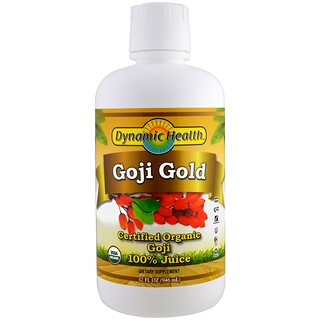 Dynamic Health  Laboratories, Certified Organic Goji Gold, 100% Juice, 32 fl oz (946 ml)