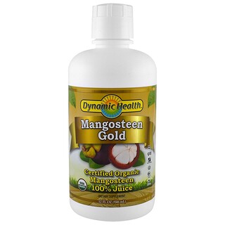 Dynamic Health  Laboratories, Certified Organic Mangosteen Gold, 100% Juice, 32 fl oz (946 ml)