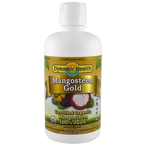 Динамик Хэлс Лабораторис, Certified Organic Mangosteen Gold, 100% Juice, 32 fl oz (946 ml) отзывы