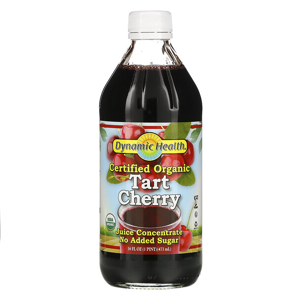 Certified Organic Tart Cherry, Juice Concentrated, 16 fl oz (473 ml)