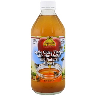 Dynamic Health  Laboratories, Apple Cider Vinegar With Mother & Honey, 16 fl oz (473 ml)