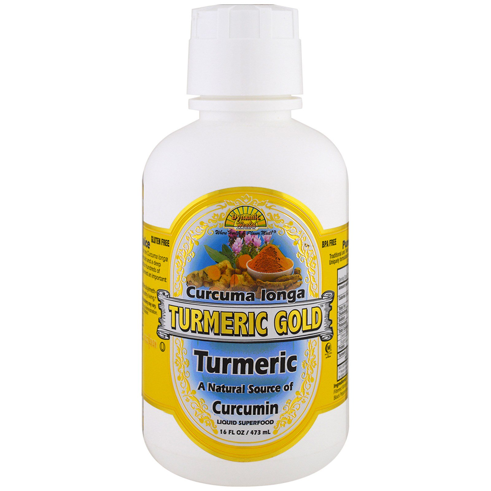 Dynamic Health  Laboratories, Tumeric Gold, 16 жидких унций (473 мл)