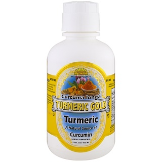 Dynamic Health  Laboratories, Tumeric Gold, 16 fl oz (473 ml)