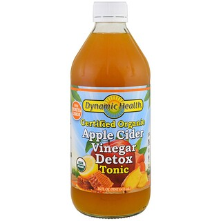 Dynamic Health  Laboratories, Certified Organic Apple Cider Vinegar Detox Tonic, 16 fl oz (473 ml)