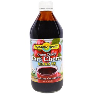 Динамик Хэлс Лабораторис, Once Daily Tart Cherry, Ultra 5X, 100% Juice Concentrate, 16 fl oz (473 ml) отзывы покупателей