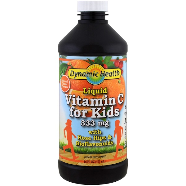 Liquid Vitamin C for Kids  Natural Citrus Flavors, 333 mg, 16 fl oz (473 ml)