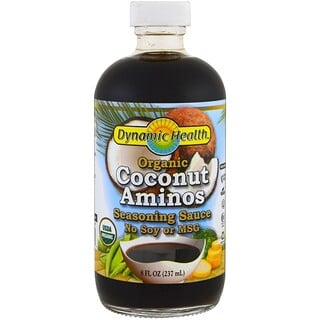 Dynamic Health  Laboratories, Organic Coconut Aminos, Seasoning Sauce, 8 fl oz (237 ml)