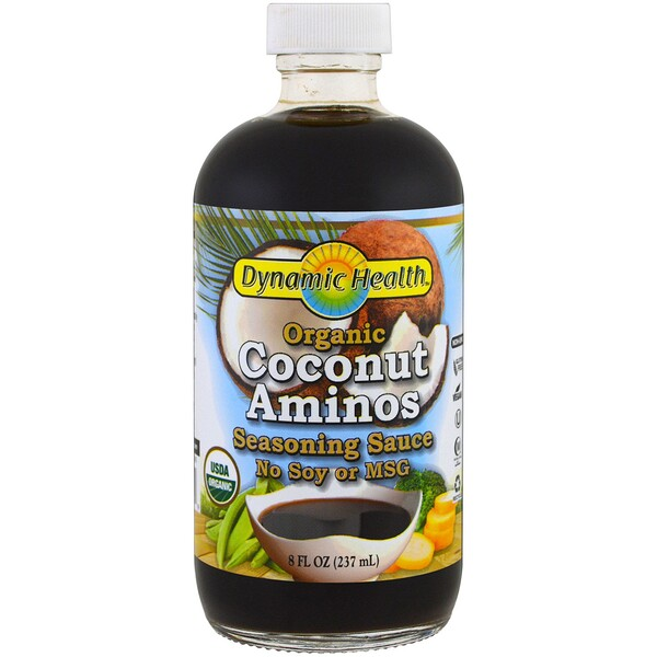 Dynamic Health  Laboratories, Organic Coconut Aminos, Molho, 237 ml (8 fl oz)