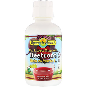 Динамик Хэлс Лабораторис, Certified Organic Beetroot, 16 fl oz (473 ml) отзывы