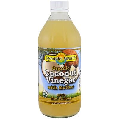 Купить Organic Coconut Vinegar with Mother, 100% Raw Vinegar, 16 fl oz (473 ml)