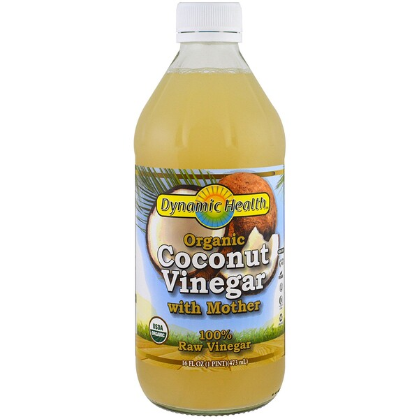 Organic Coconut Vinegar with Mother, 100% Raw Vinegar, 16 fl oz (473 ml)