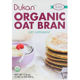 Dukan Diet, نخالة الشوفان عضوية، 17.6 أونصة (500 جم)