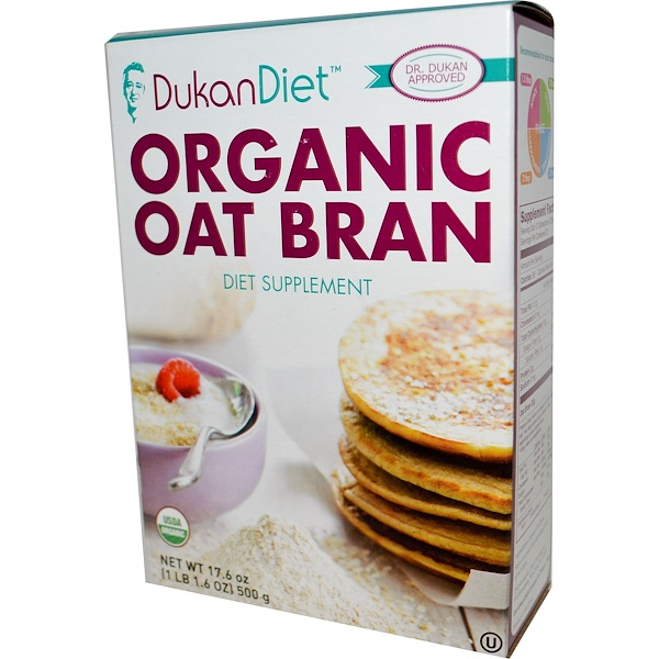 Dukan Diet, Organic Oat Bran, 17.6 oz (500 g)