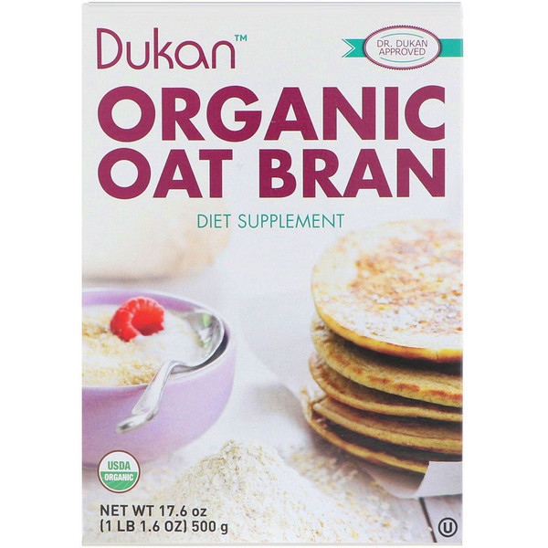 Dukan Diet, Organic Oat Bran, 17.6 oz (500 g) (Discontinued Item)